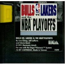 Bulls vs Lakers and the NBA Playoffs Sega Genesis