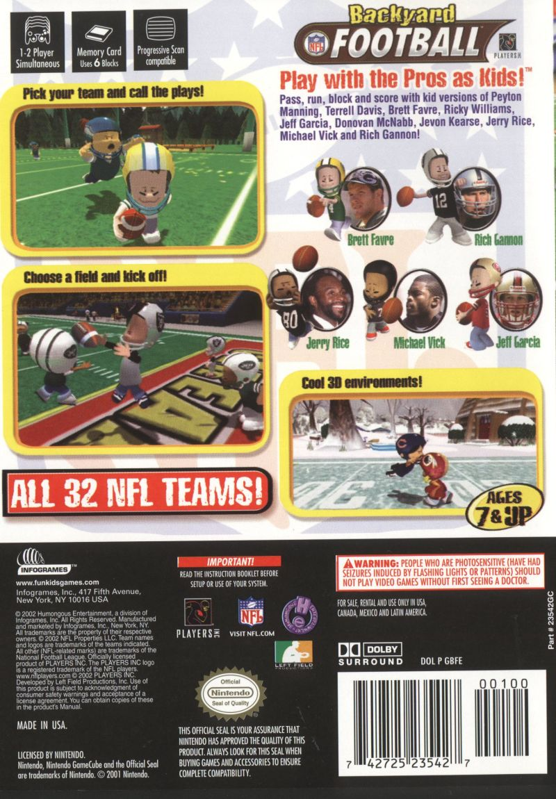 backyard football ps2 outdoor goods