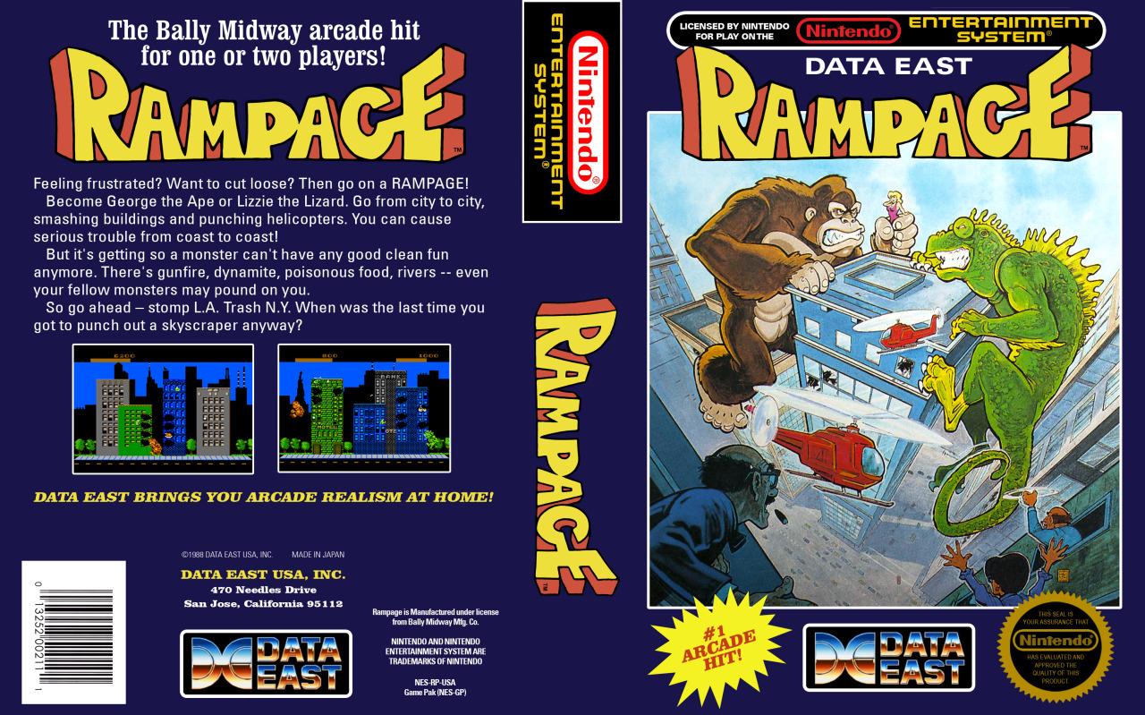 Rampage Nes Retro Game Age