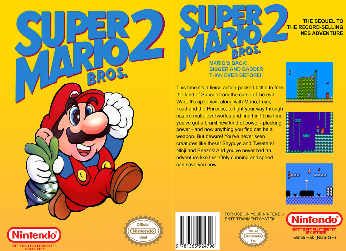 Super Mario Bros 2 Nes Retrogameage