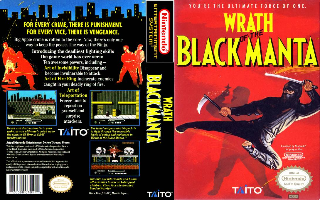 Wrath Of The Black Manta Nes Retrogameage
